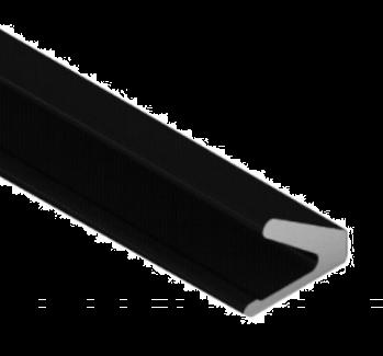 Tochtprofiel zwart Q-Lon 3117 zelfklevend, rol a 25 meter
